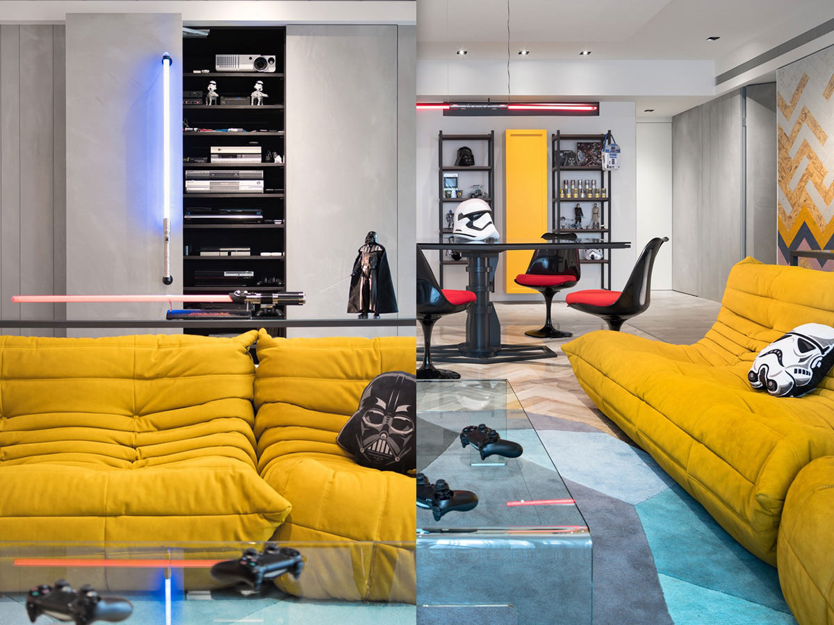 Star Wars Themed Apartment By White Interior Design 06