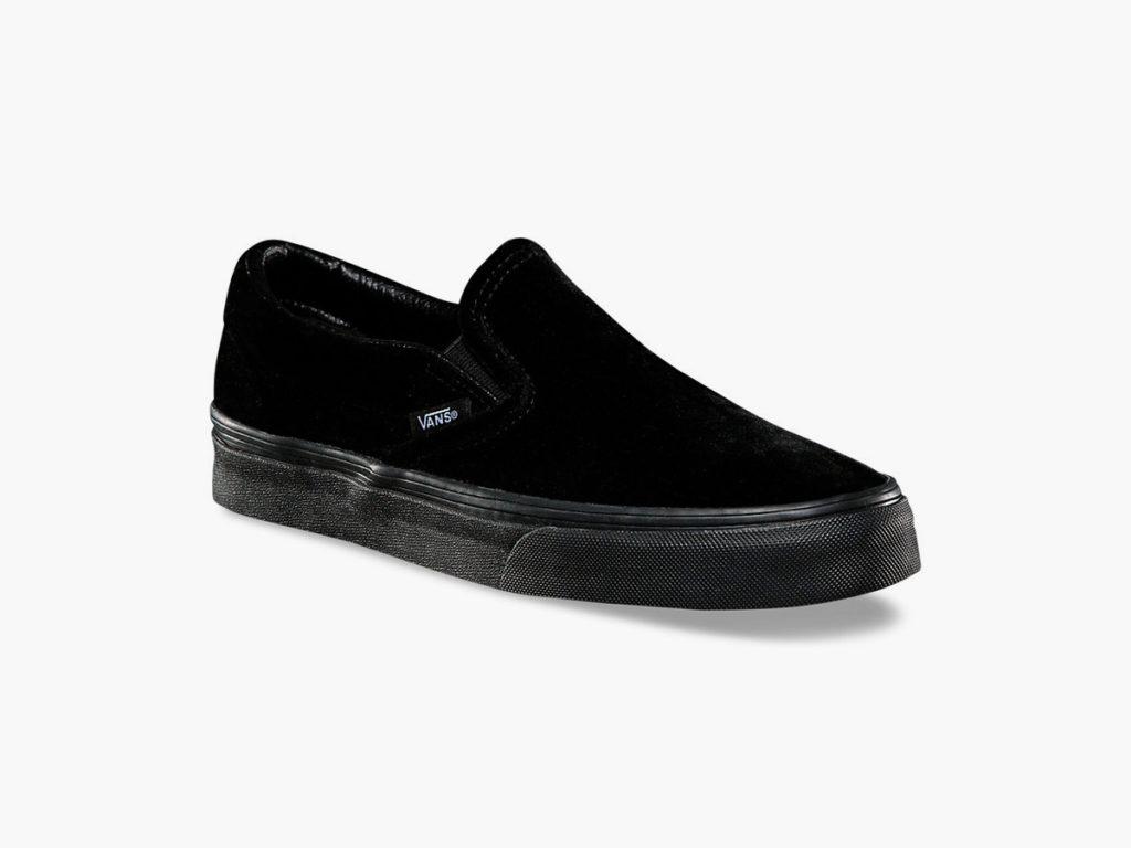 black velvet slip on vans