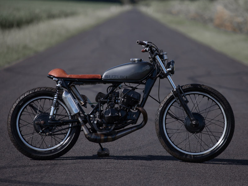 Purpose Built Moto Suzuki TS185 Street Tracker