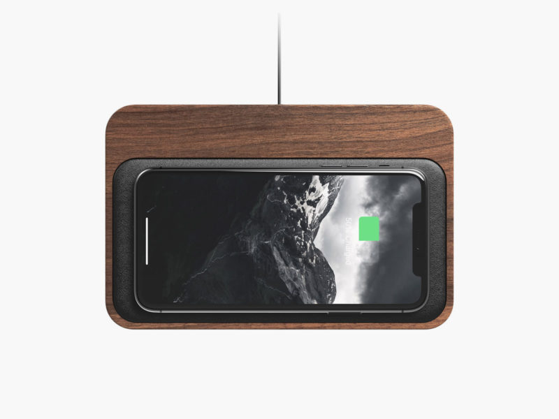 Nomad Base Station Wireless Charging Hub Walnut Edition