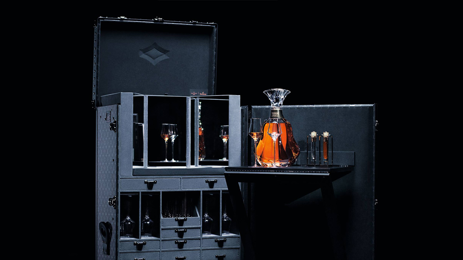Louis Vuitton x Hennessy Trunk & Decanter