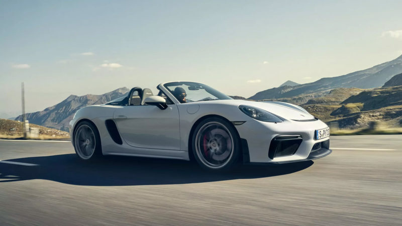 Porsche 718 Boxster Spyder 2019 2020-Porsche-718-Spyder-and-718-Cayman-GT4-02-1-800x450