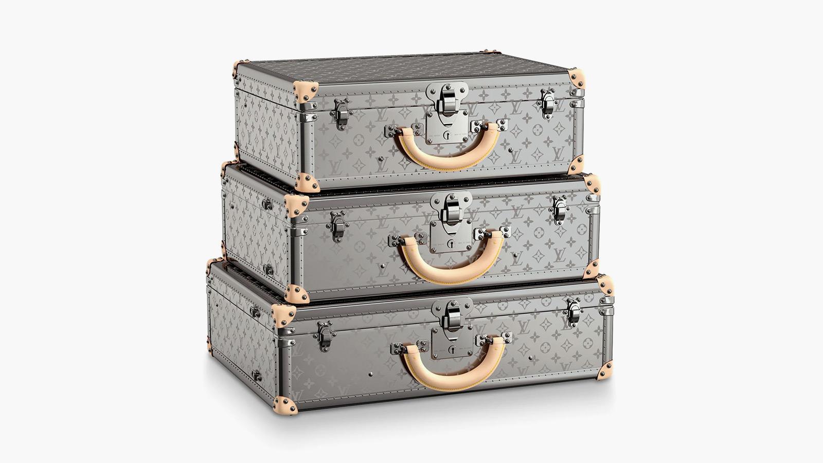 Louis Vuitton Bisten Monogram Titane Suitcase Collection