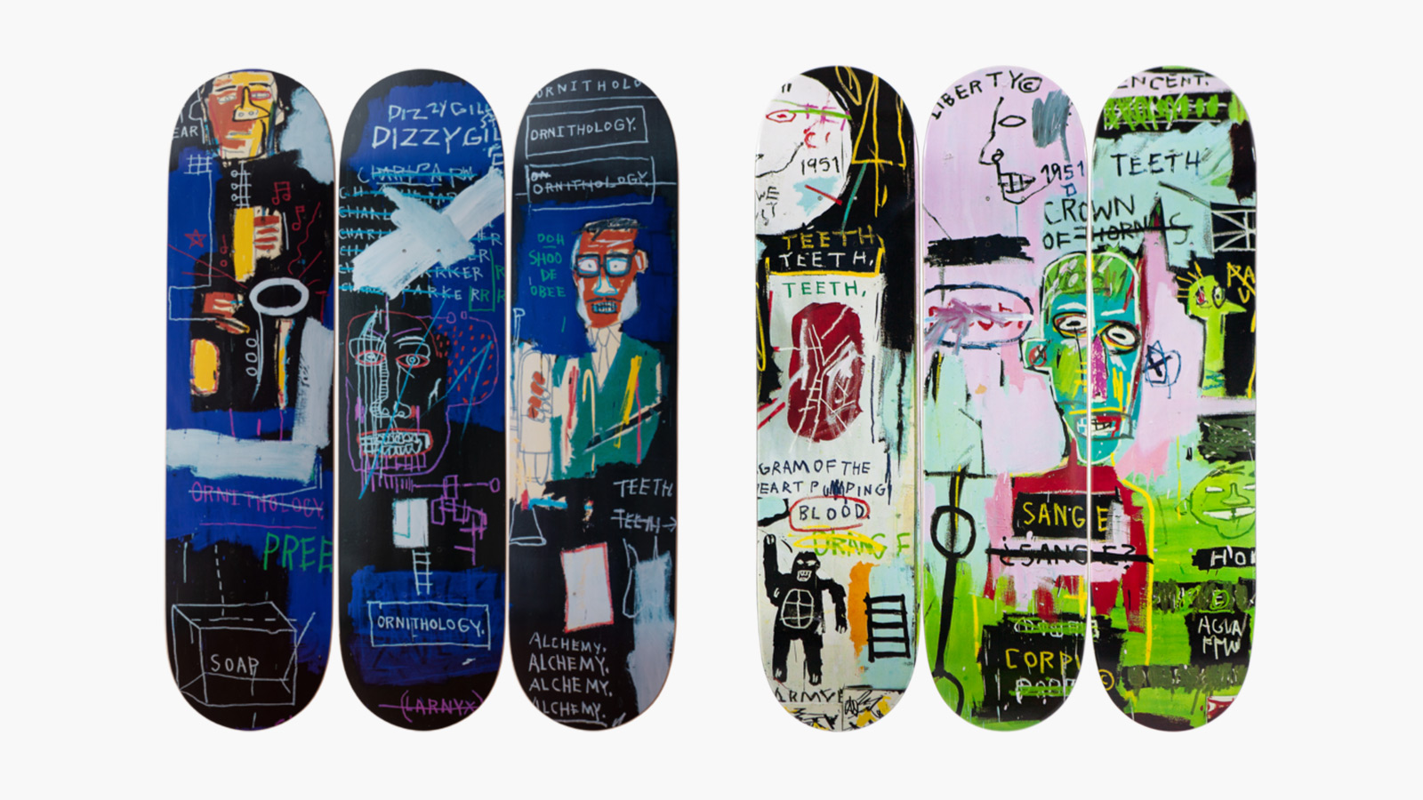 The Skateroom x Jean-Michel Basquiat Skateboards