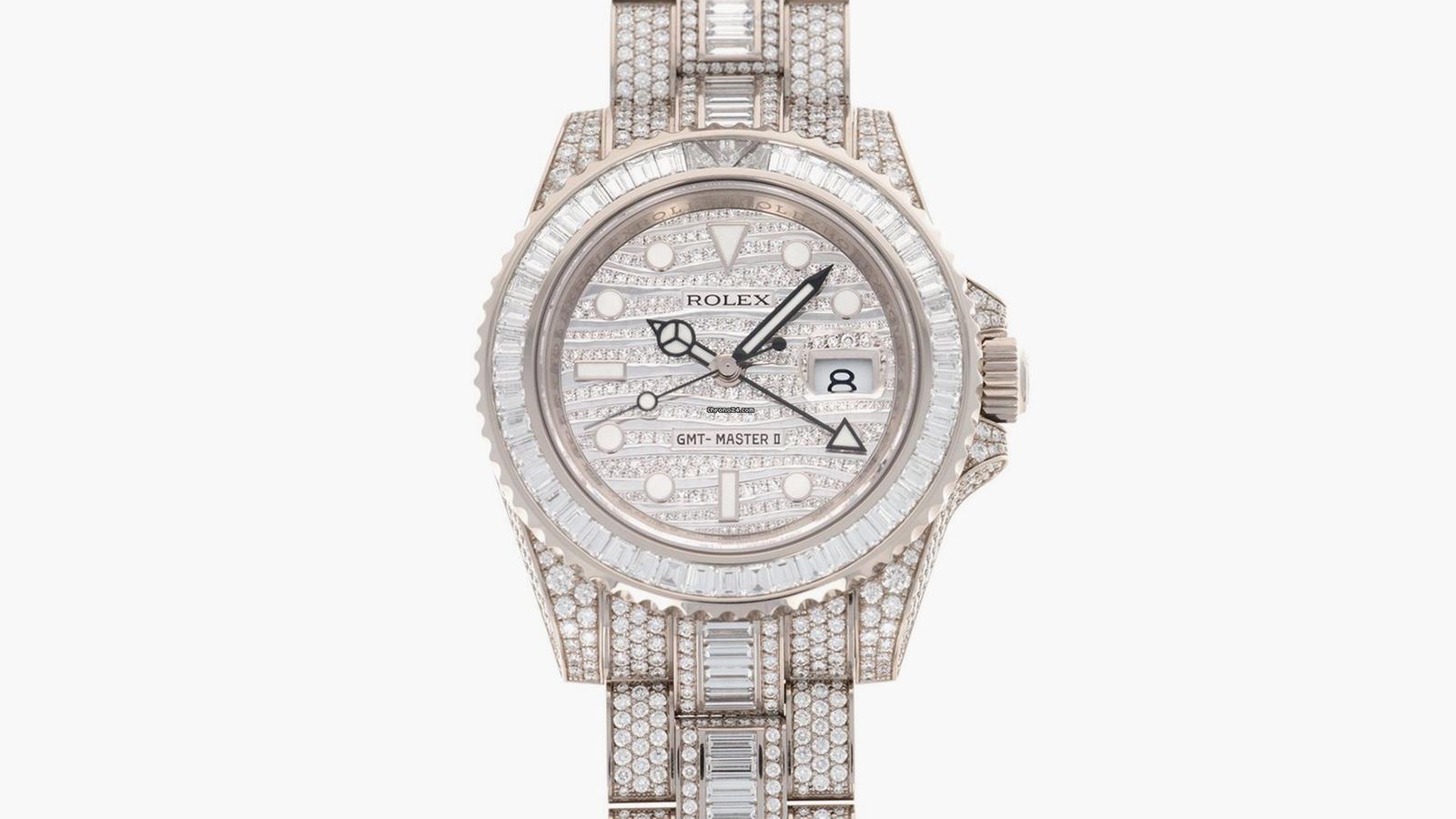 Rolex White Gold GMT-Master Ice Watch