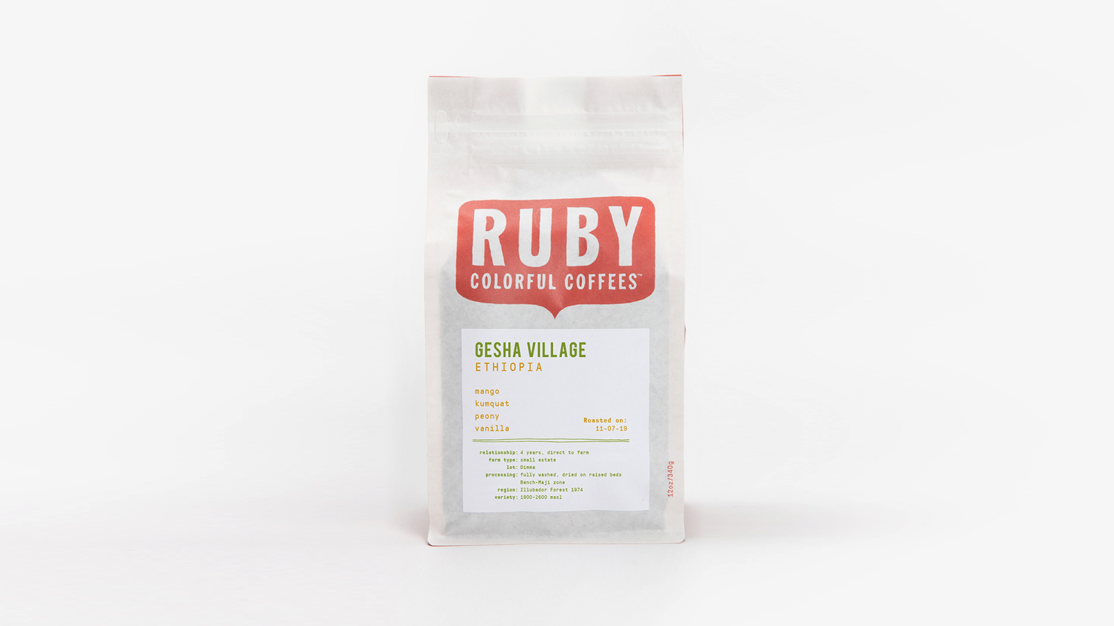 Ruby Coffee Roasters Ethiopia Gesha Village Coffee
