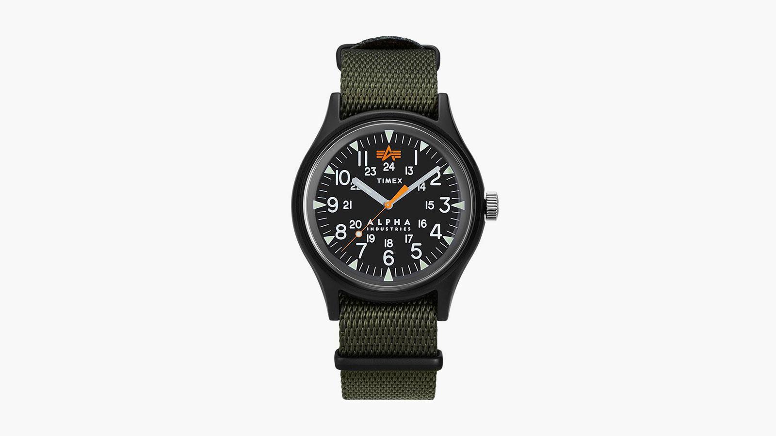 Timex x Alpha Industries 40mm Fabric Strap Watch