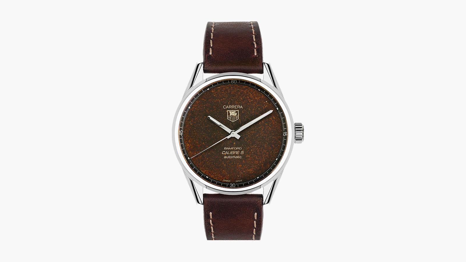 Bamford Watch Department x Blackbadger Coffee Dial Tag Heuer Carrera