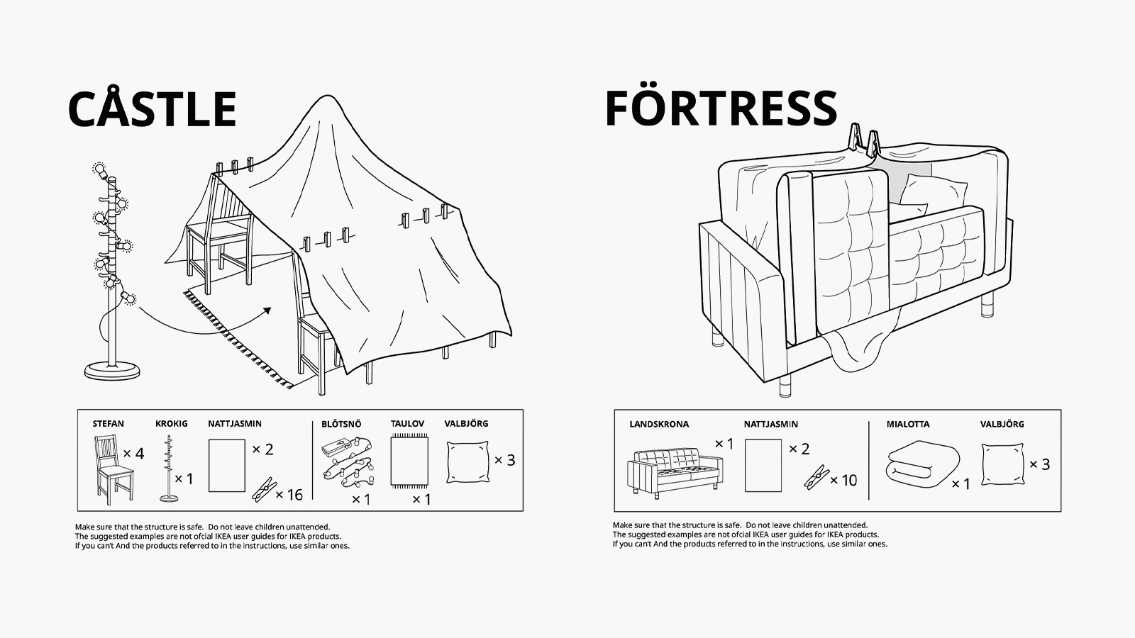 Ikea Releases Assembly Instructions for Couch Fort, Other Improvised Living Room Shelters
