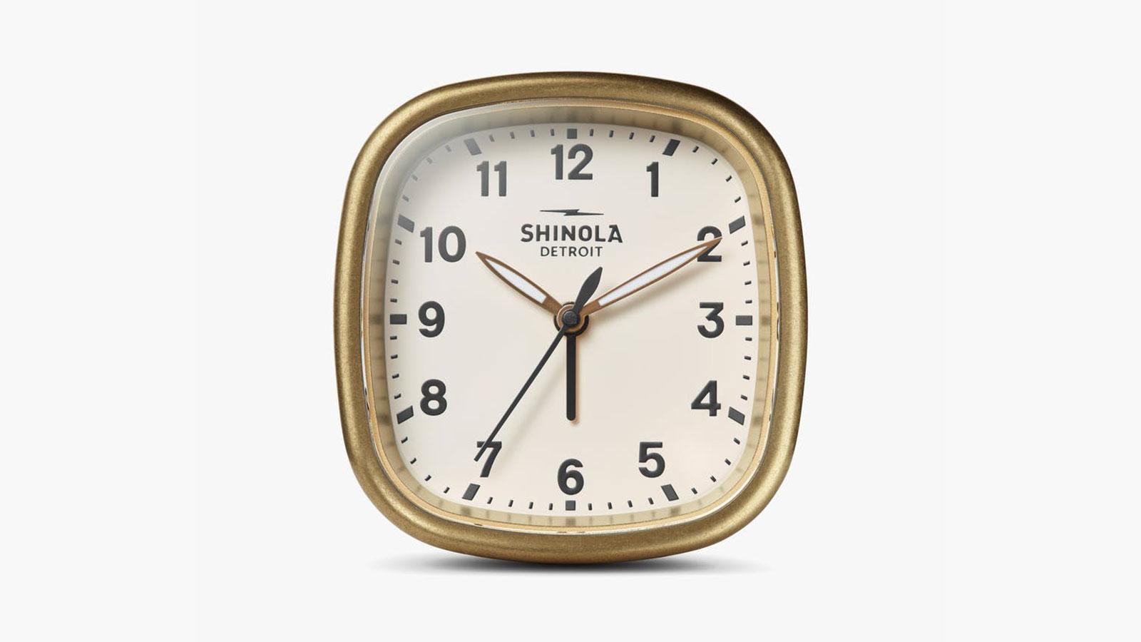 Shinola Guardian Travel Alarm Clock