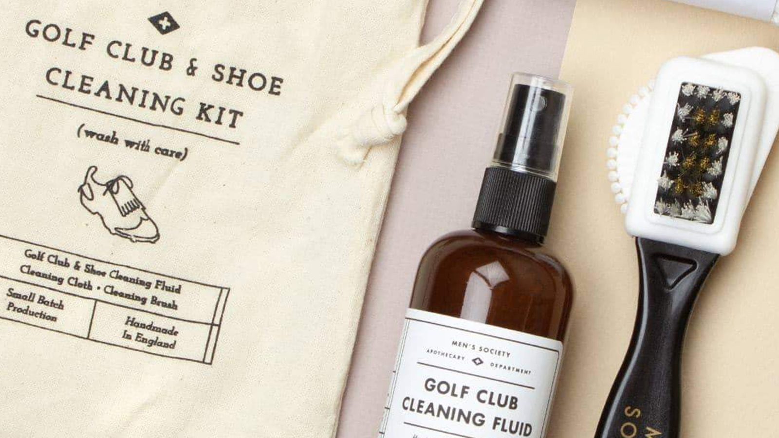 Men's Society Golf Club and Shoe Cleaning Kit