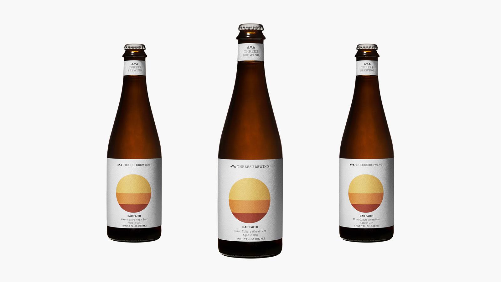 Threes Brewing Barrel Aged Bad Faith Beer