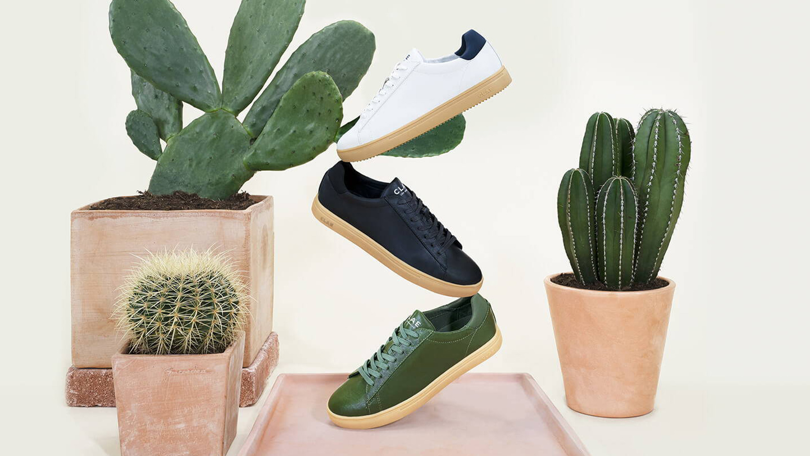 CLAE Cactus Leather Sneakers