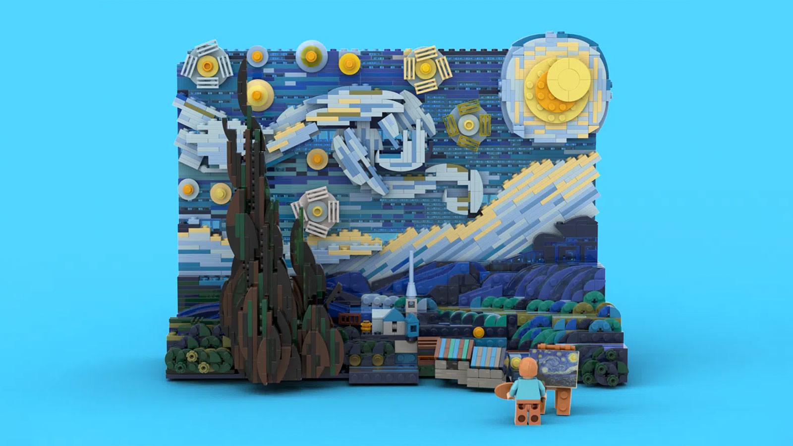 "LEGO Vincent van Gogh ""The Starry Night"" Set"