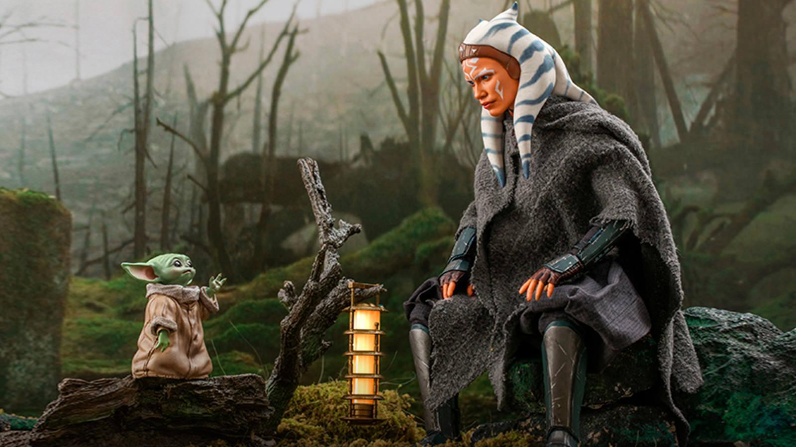 Hot Toys Star Wars The Mandalorian Ahsoka Tano & Grogu 1/6th Scale Collectible Set