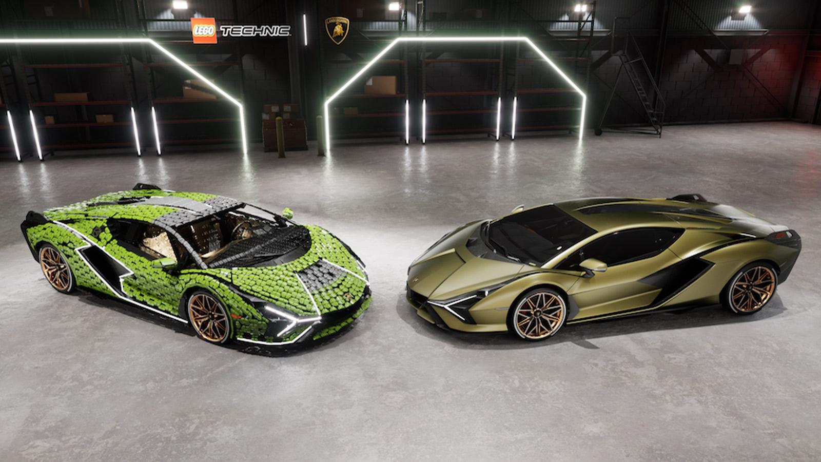 LEGO Technics Life-size Lamborghini Sián FKP 37