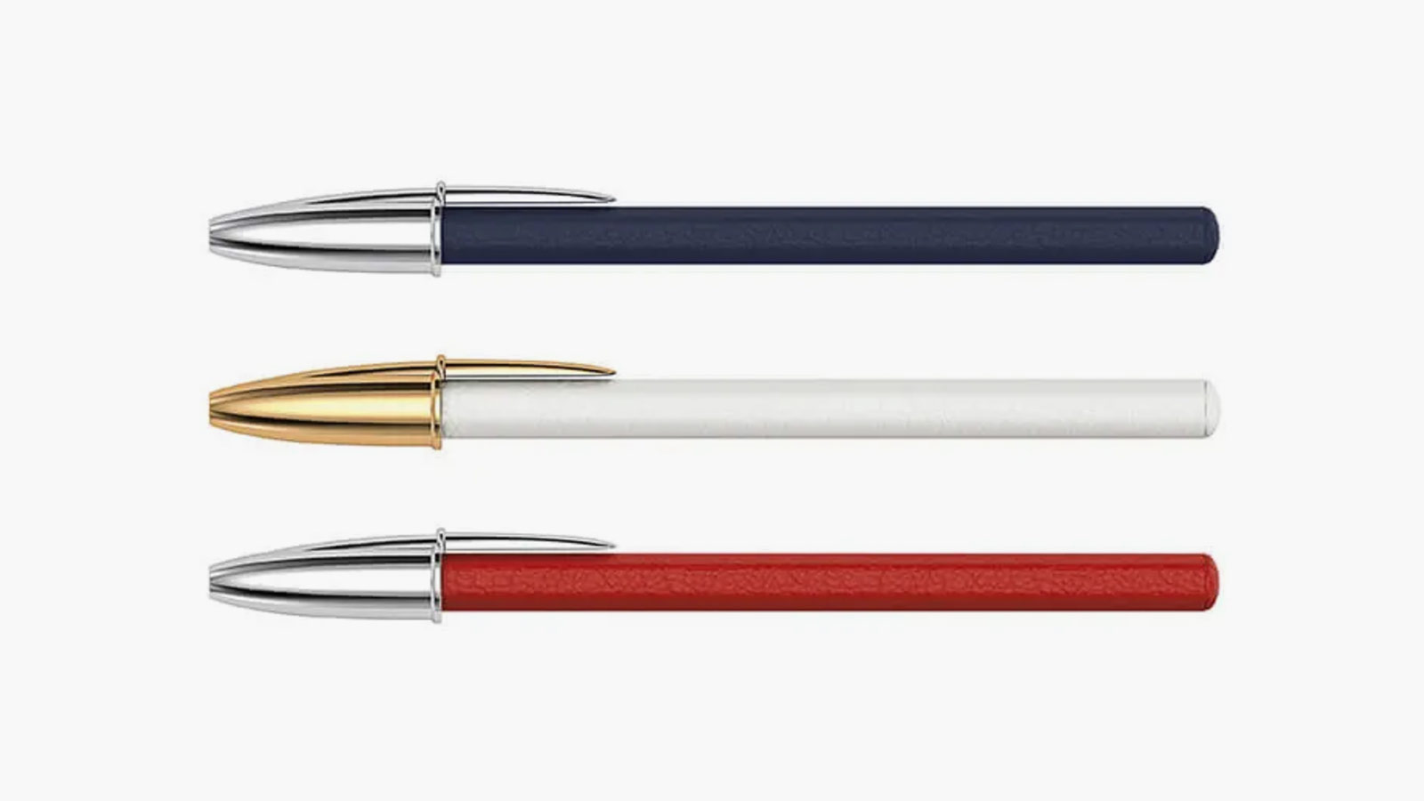 Pinel et Pinel Pen Pack BIC Blue , Blanc , Rouge Bull Leather