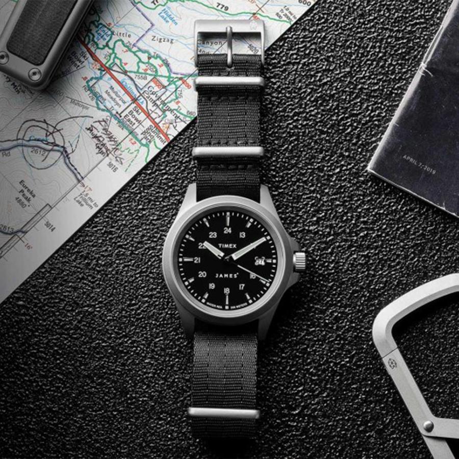 The James Brand x Timex Expedition North Titanium